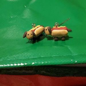 (3 for $10) Hot(dog) Earrings